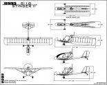 """Rans S-18 """"Stinger II"""", rysunek w trzech rzutach. (Źródło: www.rans.com)."""