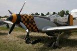 """Nielatająca replika samolotu myśliwskiego Mustang Aeronautics P-51 """"Mustang Replica"""", widok z przodu. (Źródło: archiwum)."""