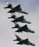 Samoloty myśliwskie MiG-21bis lotnictwa wojskowego Bułgarii. (Źródło: Chris Lofting).