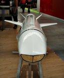 Pełnowymiarowa makieta pocisku NSM wystawiona na XVIII MSPiO w Kielcach w 2010 r. (Źródło: Copyright  Tomasz Hens - reportaże).