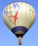 """Balon Kubíček BB-22 (SP-BVL) """"Aeroklub ROW"""". (Źródło: Copyright Ladislav Zápařka via """"LZ- przedstawiciel  czeskiego przemysłu lotniczego w Polsce"""")."""