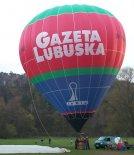 """Balon Kubíček BB-22 (SP-BAC) """"Gazeta Lubuska"""". (Źródło: Copyright Ladislav Zápařka via """"LZ- przedstawiciel  czeskiego przemysłu lotniczego w Polsce"""")."""