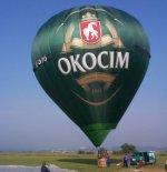 """Balon Kubíček BB-22 (SP-BAE) """"Okocim"""". (Źródło: Copyright Ladislav Zápařka via """"LZ- przedstawiciel  czeskiego przemysłu lotniczego w Polsce"""")."""