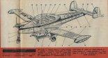 """Let L-200A """"Morava"""", przekrój. (Źródło: Skrzydlata Polska nr 49/1964)."""