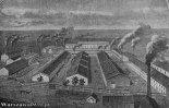 Zespół budynków na rogu Książęcej i Ludnej powstał dla założonej w 1826 r. Rządowej Fabryki Machin. (Źródło: www.warszawa1939.pl).