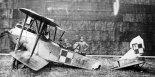 Uszkodzony samolot Lloyd C-V z 9  Eskadry Lotniczej. (Źródło: archiwum).