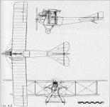 LVG B-II, rysunek w rzutach. (Źródło: archiwum).