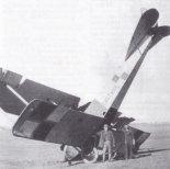"""Samolot LVG C-II/AGO nr 5230/18 w Szkole Pilotów w Ławicy.  (Źródło: Morgała A. """"Samoloty wojskowe w Polsce 1918-1924"""")."""