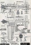 """TS-9 """"Junak-3"""", plany modelarskie. (Źródło: Modelarz nr 12/1963)."""