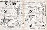 """LWS-3 """"Mewa"""", plany modelarskie. (Źródło: Modelarz nr 12/1961)."""