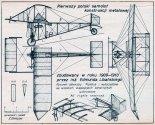 """Libański """"Monobiplan I"""", plany modelarskie. (Źródło: Modelarz nr 4/1970)."""
