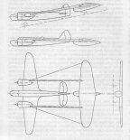 """Projekt przyczepki do samolotu bombowego Bristol """"Blenheim"""" Mk.IV. (Źródło: Technika Lotnicza i Astronautyczna nr 4/1989)."""