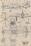Albatros D-V. Plany modelarskie (Źródło: Modelarz nr 5/1988).