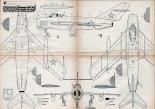 Mikojan MiG-17, plany modelarskie. (Źródło: Modelarz nr 3/1961).