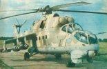 Śmigłowiec szturmowy Mil Mi-24D w barwach polskiego lotnictwa wojskowego. (Źródło: Skrzydlata Polska nr 41/1990).