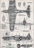 Morane-Saulnier MS-406C1, plany modelarskie. (Źródło: Modelarz nr 12/1960).