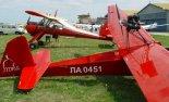"""Motoszybowiec """"Moto-Sroka"""" Kuby Myśluka (ŁA-0451). 9 Stalowowolski Zlot amatorskich konstrukcji lotniczych  Stalowa Wola -Turbia 2003. (Źródło: via www.motolotnie.w.interia.pl)."""