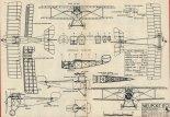 Samolot myśliwski Nieuport 17C1, plany modelarskie. (Źródło: Modelarz nr 1/1976).