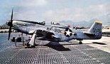 """Samolot rozpoznawczy North American F-6K """"Mustang"""" z 155th Tactical Recon Squadron w bazie Chin Chan w Korei, 1952 r. (Źródło: Wiśniewski P., Żurek J. B. """"North American P-51 Mustang, P-82 Twin Mustang"""". Wyd. AJ-Press)."""
