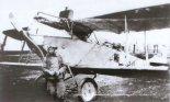 Samolot Oeffag C-II nr 52.27 sfotografowany na początku 1919 r. na lotnisku w Przemyślu. (Źródło: archiwum).