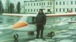 """Samolot Air-Way KO-8 """"For You"""" na lotnisku Łódź- Lublinek. (Źródło: via Konrad Zienkiewicz)."""