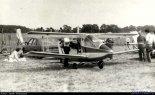 Samolot Jerzego Ostrowskiego. VIII Zlot Konstrukcji Amatorskich w Oleśnicy, 1989 r. (Źródło: Copyright Jacek Waszczuk).