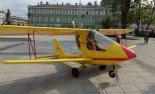 Samolot prezentowany na rynku w Częstochowie w 2015 r. (Źródło: via Damian Lis).