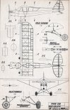 "Piper L-4 ""Cub"", plany modelarskie. (Źródło: Modelarz nr 9/1965)."