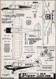 "Piper PA-18 ""Super Cub"", plany modelarskie. (Źródło: Modelarz nr 5/1960)."