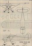 "Piper PA-22 ""Colt"". Plany modelarskie (Źródło: Modelarz nr 7/1987)."