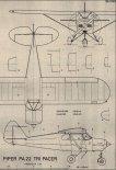 """Piper PA-22 """"Tri Pacer"""". Plany modelarskie (Źródło: Modelarz nr 8/1987)."""