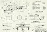 "Piper PA-24 ""Comanche"", plany modelarskie. (Źródło: Modelarz nr 7/1975)."