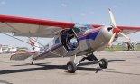"""Samolot """"Tulak"""" (SP-YBM) na Zlocie Amatorskich Konstrukcji Lotniczych. Lotnisko Turbia, 2002 r. (Źródło: Aleksander Dobrzański via Damian Lis)."""