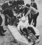 Poduszkowiec SMT w czasie prób. (Źródło: Młody Technik nr 5/1964).