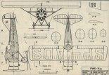 PWS-11bis, plany modelarskie. (Źródło: Modelarz nr 12/1975).