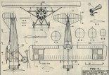 PWS-11a, plany modelarskie. (Źródło: Modelarz nr 12/1975).