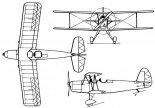 """PWS-35/I """"Ogar"""", rysunek w trzech rzutach. (Źródło: via Sławomir Kin)."""