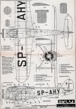 PWS-54, plany modelarskie. (Źródło: Modelarz nr 6/1960).