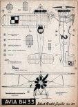 PWS-A, plany modelarskie. (Źródło: Modelarz nr 1/1957).
