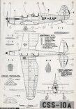 CSS-10A, plany modelarskie. (Źródło: Modelarz nr 9/1962).