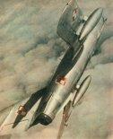 Samolot Lim-5 w locie wznoszącym. (Skrzydlata Polska nr 37/1963).