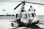 Śmigłowiec myśliwski Mi-2URS uzbrojony w system Gad. (Źródło: Aeroplan nr 3/1996).