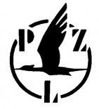 Logo Państwowych Zakładów Lotniczych w latach 1936-1939. (Źródło: rys. Krzysztof Luto).