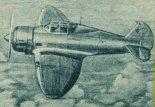 """Wizja artystyczna samolotu PZL-50 """"Jastrząb"""". (Źródło: Skrzydlata Polska nr 11/1963)."""