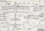 """PZL-101 """"Gawron"""", plany modelarskie. (Źródło: Modelarz nr 3/1964)."""
