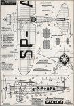 PZL Ł-2, plany modelarskie. (Źródło: Modelarz nr 4/1961).