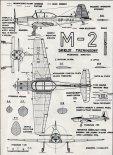 PZL M2, plany modelarskie. (Źródło: Modelarz nr 11/1958).