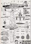 "PZL M-4 ""Tarpan"", plany modelarskie. (Źródło: Modelarz nr 3/1963)."