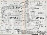 """PZL M20 """"Mewa"""". Plany modelarskie (Źródło: Modelarz nr 4/1980)."""