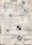 PZL P-7a, plany modelarskie. (Źródło: Modelarz nr 7/1969).